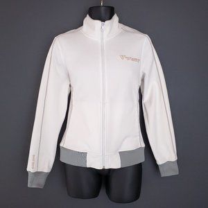 GUESS Track Jacket Full Zip White Men's Small
